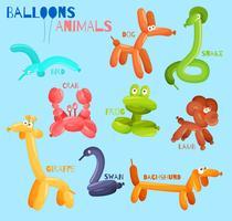 Balão de animais isolados