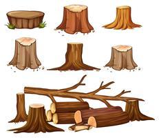 Um conjunto de desmatamento vetor