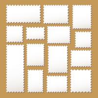 selos postais vazios em branco