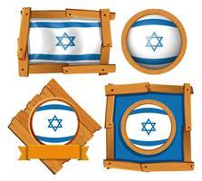 Ícone do design para a bandeira de Israel vetor