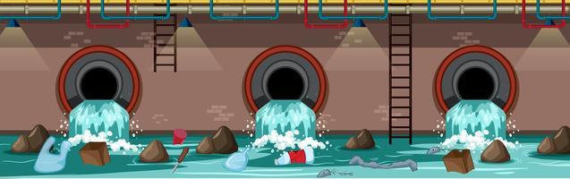 Tubo de Resíduos Subterrâneo da Grande Cidade vetor
