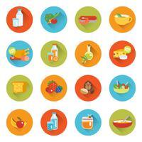 Saudável comer ícones planas