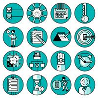 Ícones de gerenciamento de tempo