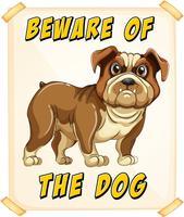 Cuidado com o cão vetor