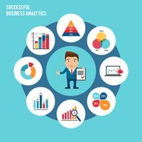 Conjunto de gráfico de negócios