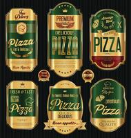 design de pizza vetor
