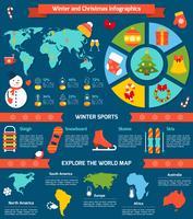 Infográfico de inverno e Natal vetor