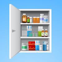 Armário de medicina realista