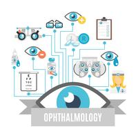 Conceito de oftalmologia plana