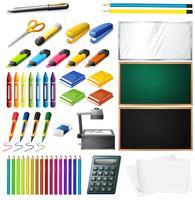 Diferentes tipos de material de escritório vetor