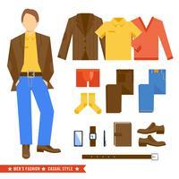 Homem negócio, roupas, ícones vetor