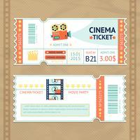 Conjunto de ingressos de cinema vetor