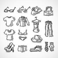 Conjunto de ícones de moda vetor