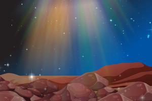 Espectro de luz no céu à noite vetor