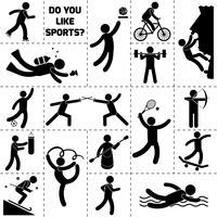 Esporte ícone preto vetor