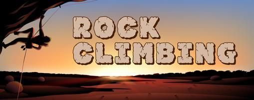 Design de fonte para escalada em rocha vetor