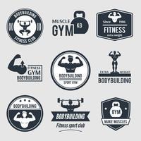 Conjunto de etiquetas de musculação