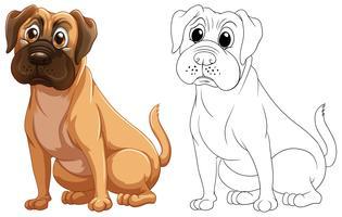 Contorno de animal para cachorro fofo vetor