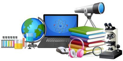 Conjunto de equipamentos de aprendizagem vetor