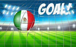 Bandeira de bola de futebol do México vetor