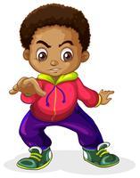 Um, menino africano, caráteres vetor