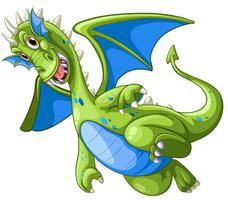 Dragão Verde no fundo branco vetor