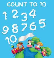 Número de nuvem de contagem de matemática