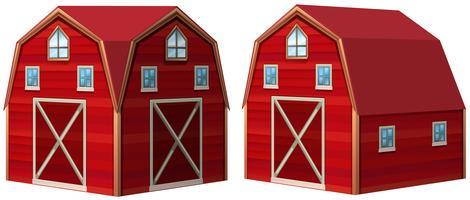 Celeiro vermelho em design 3D vetor