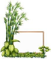 Um quadro de madeira de bambu natural vetor