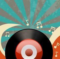 Design retro com gravador de disco vetor