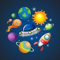 Sistema solar e espaço vetor