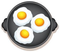 Café da manhã com ovos do lado ensolarado vetor