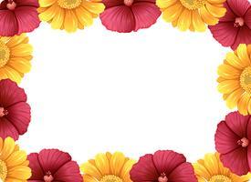 Um lindo quadro de flores vetor