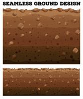 Subterrâneo sem costura com diferentes camadas vetor