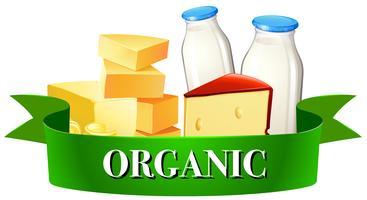Produtos lácteos e sinal vetor