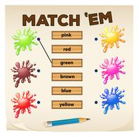Jogo de correspondência com cores vetor
