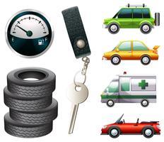 Carros e peças vetor