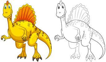 Contorno animal para dinossauro vetor