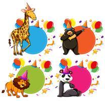 Conjunto de conceitos de celebração animal