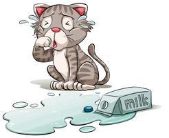Um gato chorão vetor