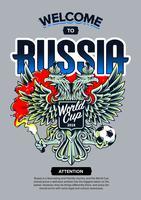 Bem-vindo à arte da Rússia vetor