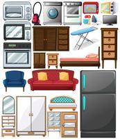 Diferentes tipos de eletrodomésticos vetor