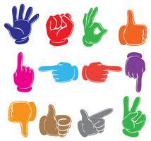 Mãos coloridas vetor