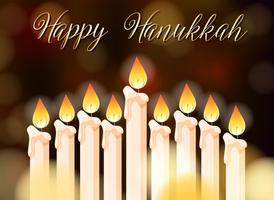 Design de cartaz feliz Hanukkah com velas vetor