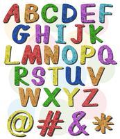 Letras grandes coloridas do alfabeto vetor