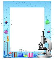 Ferramentas de ciência e recipientes vetor