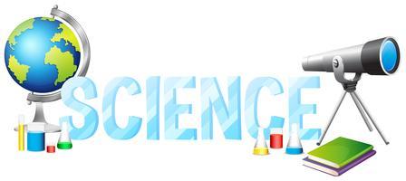 Design de fonte com ciência da palavra vetor