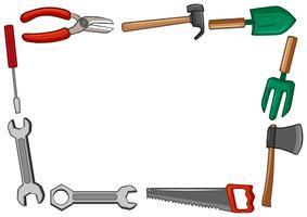 Design de moldura com muitas ferramentas vetor