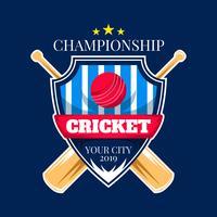 campeonato de críquete vetor