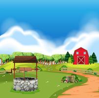 Uma terra de fazenda rural vetor